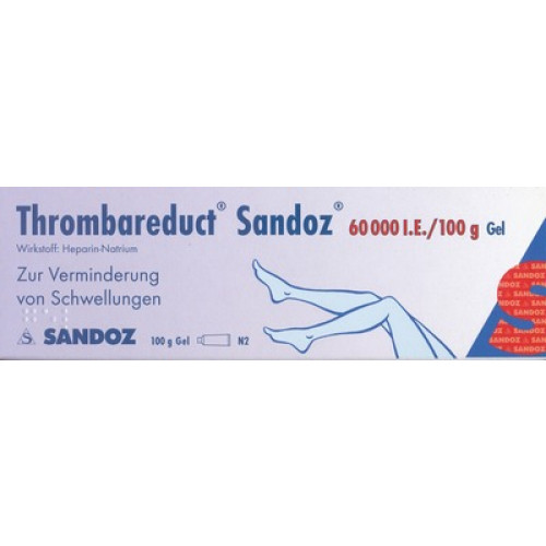 THROMBAREDUCT Sandoz 60.000 I.E. Gel 100 g
