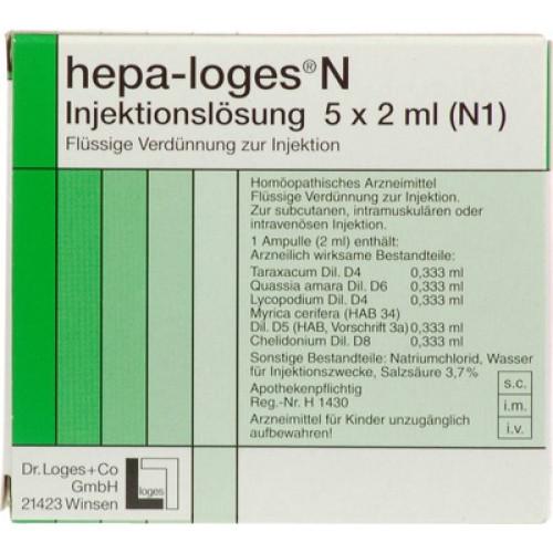 HEPA LOGES N Injektionslösung Ampullen 5x2 ml