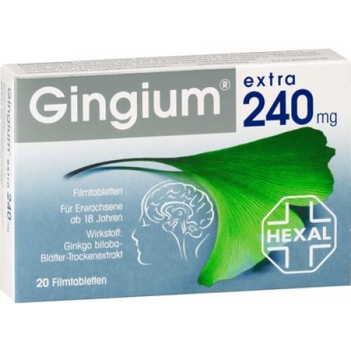 GINGIUM Extra 240 Mg Filmtabletten 20 St
