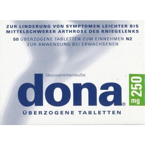 DONA 250 Mg überzogene Tabletten 50 St