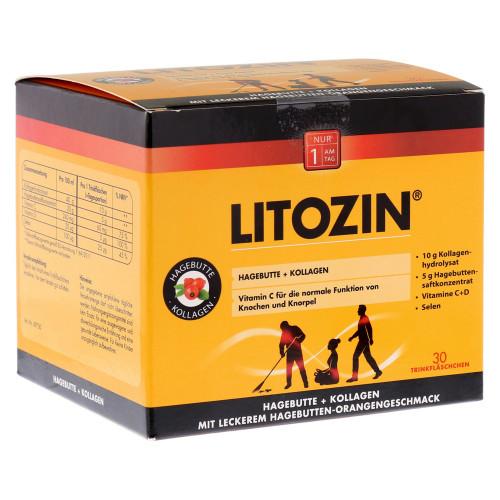 LITOZIN Hagebutte+Kollagen Trinkfläschchen 30 x 25 ml