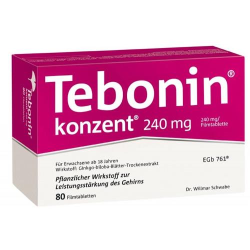 Tebonin konzent 240 mg Filmtabletten 80 St