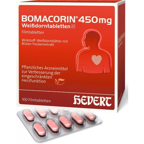 BOMACORIN 450 mg Weißdorntabletten N 100 St