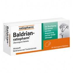 BALDRIAN RATIOPHARM überzogene Tabletten 30 St
