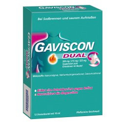 GAVISCON Dual 500mg/213mg/325mg Suspension im Beutel 12St