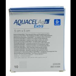 AQUACEL Ag+ Extra Wundauflagen 5 x 5 cm 10St
