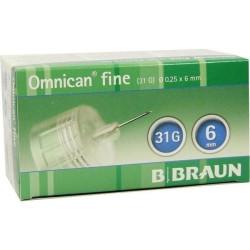 Omnican fine  Pen-Nadeln 0,25x6mm / VPE 100 St
