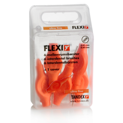 Tandex Flexi Interdental Bürsten orange, 0,45-2,5 mm 6St