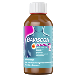 Gaviscon Dual 500 mg/213 mg/325 mg Suspension zum Einnehmen 300ml