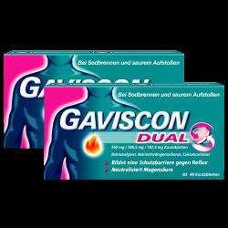 GAVISCON Dual 250mg/106,5mg/187,5mg Kautabletten 2x48St
