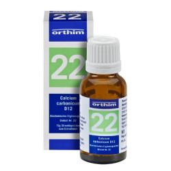 Biochemie Orthim Globuli 22 Calcium carbonicum D 12 15g