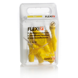 Tandex Flexi Interdental Bürsten gelb, 0,7-3,5 mm 6St