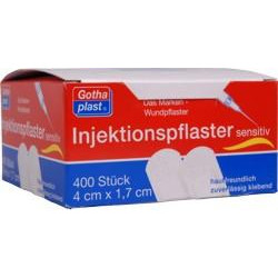 Gothaplast Injektionspflaster sensitiv 1,7 cm x 4 cm. 400St