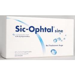 Sic-Ophtal sine Augentropfen Einzeldosispipetten 60x0,6ml