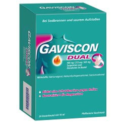 GAVISCON Dual 500mg/213mg/325mg Suspension im Beutel 24St