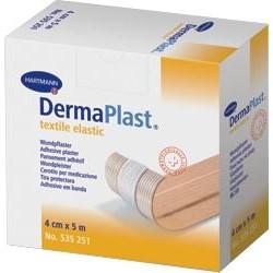DermaPlast textile elastic Pflaster 5 m x 4 cm 1St