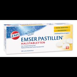 EMSER Pastillen ohne Menthol zuckerfrei 30St
