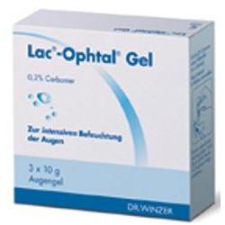 Lac-Ophtal Gel Augentropfen 3x10g