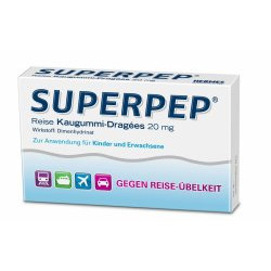 Superpep Reise Kaugummi Dragees 20 mg 10St