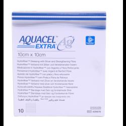 Aquacel Ag Extra Kompressen 10 x 10 cm 10St