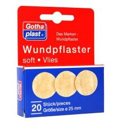 Gothaplast Wundpflaster soft Vlies ø 2,5 cm 20St