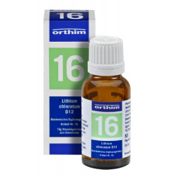 Biochemie Orthim Globuli 16 Lithium chloratum D 12 15g