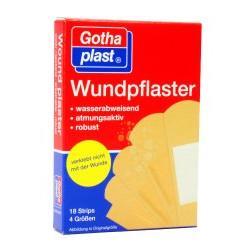 Gothaplast Wundpflaster wasserabweisend / robust Strips 18St