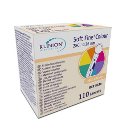 Klinion Soft fine colour Lanzetten 28 G 110st