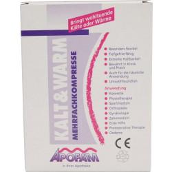 Apofam Kalt & Warm Mehrfachkompresse 12 x 28 cm mit Bandage