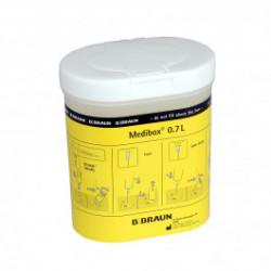 Medibox 0,7 L Sammelbox - sichere Entsorgung gebr. Kanülen & Lanzetten/ 1 Stück
