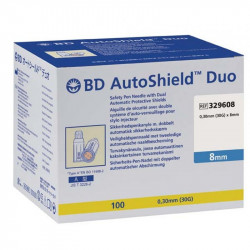 BD AutoShield Duo  Sicherheits-Pen-Nadeln 30G 8mm / VPE 100 St.