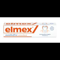 elmex mentholfrei Zahnpasta mit Faltschachtel, homöopathiegeeignet 75 ml