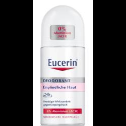 Eucerin Deodorant 24h Roll-on für empfindliche Haut 0% Aluminium (ACH) 50 ml