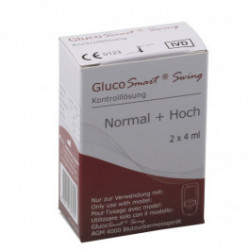 "GlucoSmart Swing ""normal/hoch"" - Kontrolllösung / 2x 4 ml"