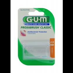 GUM Proxabrush Classic Ersatzbürsten 0,9mm Kerze orange 8 St.