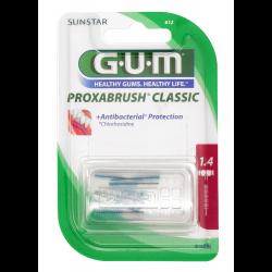 GUM Proxabrush Classic Ersatzbürsten 1,4mm Kerze pink 8 St.