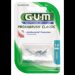 GUM Proxabrush Classic Ersatzbürsten 1,6mm Tanne blau 8 St.
