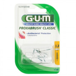 GUM Proxabrush klassisch Ersatzbürsten 0,6 mm Tanne gelb 8 St.