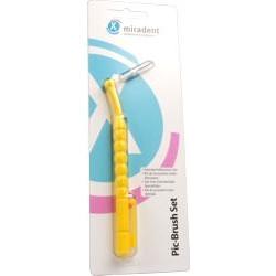 miradent PIC-Brush Interdentalbürsten Set gelb 1St