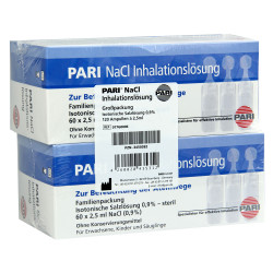PARI NaCl Inhalationslösung Ampullen 120 x 2,5 ml