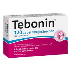 Tebonin 120 mg bei Ohrgeräuschen Filmtabletten 60St