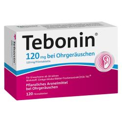 Tebonin 120 mg bei Ohrgeräuschen Filmtabletten 120St