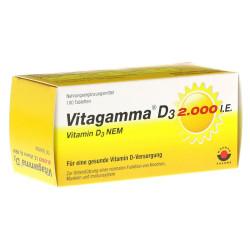 Vitagamma D3 2.000 I.E. Vitamin D3 NEM Tabletten 100 St.