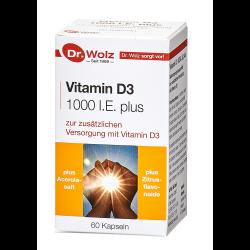 Vitamin D 3 1000 I.E. plus Dr. Wolz Kapseln 60 St.